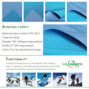 Melange Soft Shell Fabric, Polar Fleece, TPU Tpes Bonding, Windbreaker, Jacket, Waterproof, Breathable pictures & photos