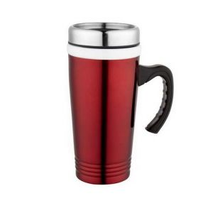 Duble Wall Travel Mug/W Handle Coffee Mug Cup with Lid pictures & photos