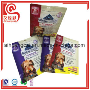Customized Four Side Seal Plastic Food Bag with Window pictures & photos