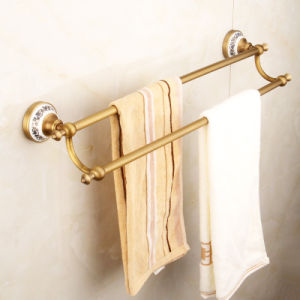 FLG Antique Double Bathroom Towel Bars Wall Mounted pictures & photos