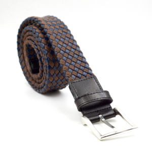 Braided PU and Rope Material Men Belts with Alloy Buckle pictures & photos