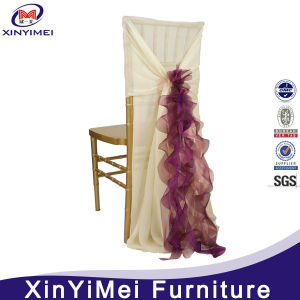 Ruffled Wedding Chair Cover for Hotel Chiavari Chair pictures & photos