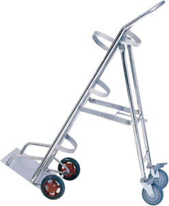Stainless Steel Medical Trolley for Oxygen Cylinder Trammer in Hospital pictures & photos