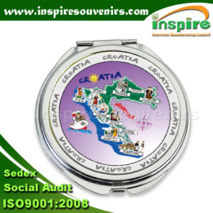 Round Foil Mirror for Souvenir Collection pictures & photos