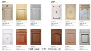PVC Faced Cherry Kitchen Cabinet Door (New model) pictures & photos
