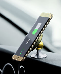 Qi Fast Charging Stand Charger Holder Car Mounted Wireless Charger for iPhone 8/8plus/X/Galaxy S6/7/8 pictures & photos