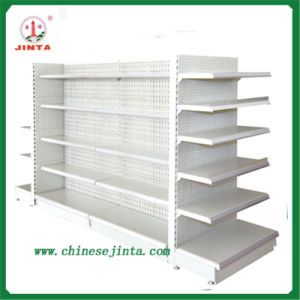 Supermarket Perforated Back Panel Shelf (JT-A03) pictures & photos