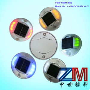 Various Colors Round Shape Solar Road Stud / LED Flashing Road Marker pictures & photos