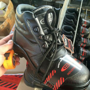 Industrial Work Leather Safety Shoes (PU Leather+Rubber Sole) pictures & photos
