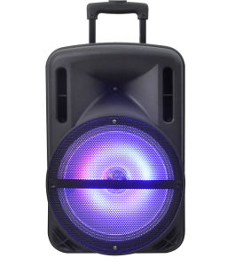 12inch Rechargeable Speaker /Bluetooth/USB/SD in/Recording/Lights/Remote F12-1 pictures & photos