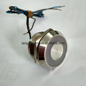 IP68 Waterproof Large Ring Illumination Latching Bi-Color 22mm Piezo Switch pictures & photos