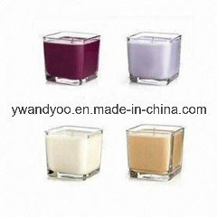 Popular Scented Soy Candle in Square Glass