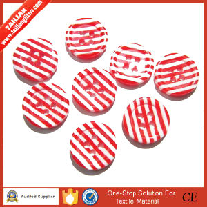 Stripe Design Red Color Button for Women′s Style pictures & photos