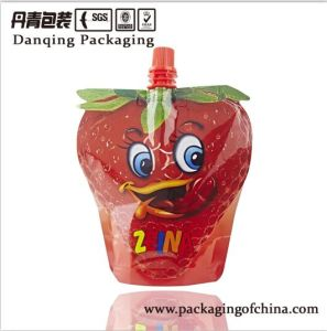 China Heat Seal Bag Unique Shaped Strawberry Packaging Stand up Pouch with Spout pictures & photos