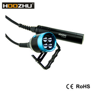 Hoozhu Hu33 Canister LED Flashlight Max 4000lm with 4000 Lumens for Divers