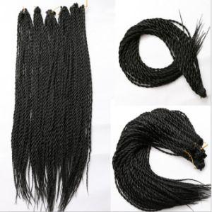 Chemical Fiber Braid Hair Dyed Large Braids Black Wig