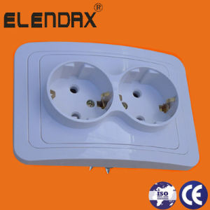 Ce Certified European Standard Hot Selling 1 Gang Socket (F2010) pictures & photos