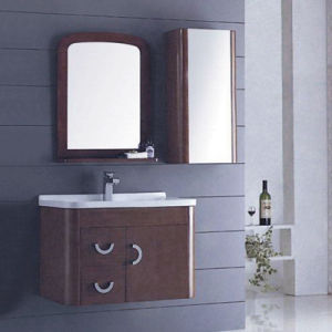 Modern Hotel Bathroom Solid Wood Bathroom Cabinet (ADS-652) pictures & photos
