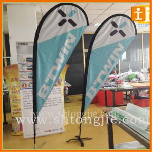 Display Tradeshow Outdoor Advertising Polyester Teardrop Flag (TJ-47) pictures & photos