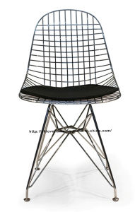 Modern Metal Restaurant Knock Down Wire Eames Side Chair pictures & photos