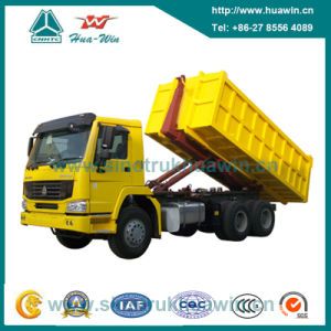 Sinotruk HOWO 336HP 6X4 Hook Arm Garbage Truck pictures & photos