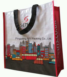 Cmyk Full Color Print PP Woven Carrier Bag for Promotional pictures & photos