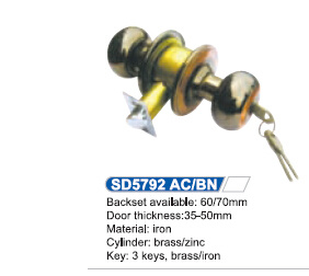 High-Grade Knob Door Lock, Cylindrical Handle Lock pictures & photos