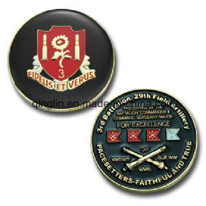 Customized Enamel Artillery Souvenir Coin (QL-SMB-0021) pictures & photos