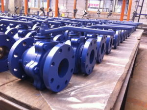 JIS 10K ball Valve Cast iron 2 PC full bore pictures & photos