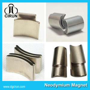 Strong Permanent N35-N52 Arc Shape Neodymium Magnet for Motor pictures & photos