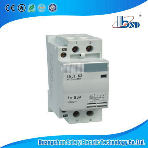 Household DIN Rail AC Contactor Lnc1-40 pictures & photos