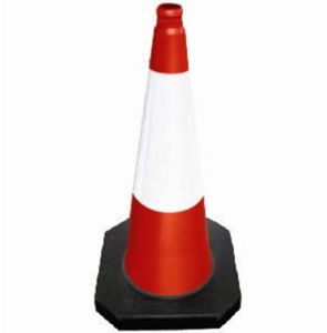 50cm PE Traffic Cones with Rubber Base pictures & photos