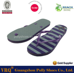 New Bicolor Lady EVA Cheap Rubber Flip Flops pictures & photos