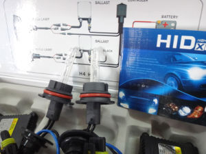 DC 24V 55W 9007 HID Lamp (blue and blak wire) pictures & photos