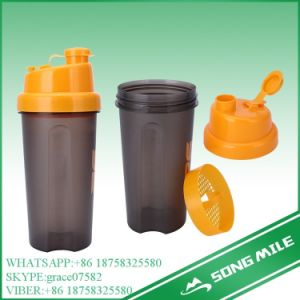 500ml 600ml 750ml Custom Logo Plastic Sport Bottle Shaker pictures & photos