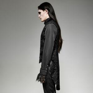 Y-696 Gothic Gorgeous Fake Two Pieces Swallow Tail Sleeveless Velveteen Jacket pictures & photos