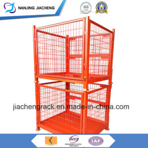 Warehouse Heavy Duty Powder Coated Foldable Wire Mesh Basket pictures & photos