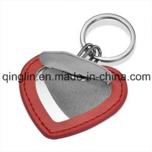 Custom Novelty Design Leather and Metal Pocket Mirror (QL-HZJ-0024) pictures & photos
