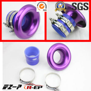 Alloy RAM Pipe Air Inlet Intake Funnel Duct 3/3.5inch Purple