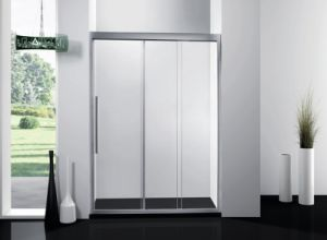 Three Connection Sliding Shower Door Screen Tempered Glass Shower Doors Bathroom Shower Enclosure pictures & photos