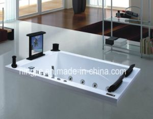 Hot Selling Whirlpool Acrylic Massage Bathtub (NJ-3057) pictures & photos