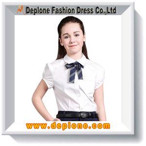 Best-Selling School Uniform Shirt for Girls (UC207)