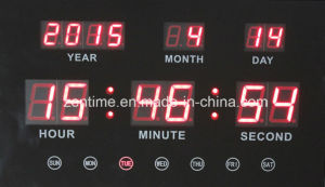 Emitting LED Digital Tube Type Calendar Clock (ZT-042A) pictures & photos
