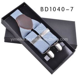 High Quality Genuine Leather Elastic Braces Gift for Men pictures & photos