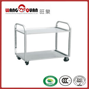 Round Tube Dish Collection Cart for Snack pictures & photos