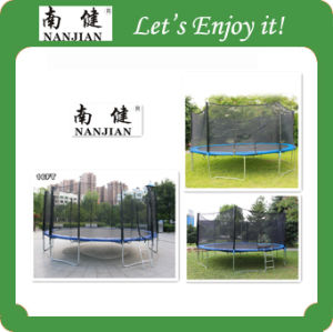High Quality Gymnastic Combo Outdoor Fitness Trampoline Wholesale with Enclosure and Ladder pictures & photos