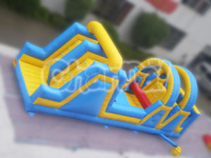 Hot Selling Inflatable Blue & Yellow Rainbow Obstacle for Kids Party pictures & photos
