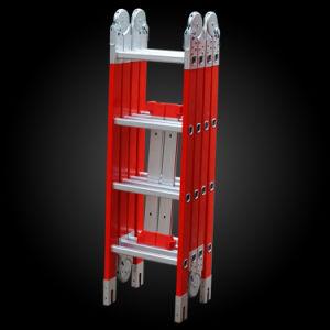 Insuleted Fiberglass Multi-Purpose Telescopic Folding Ladder pictures & photos