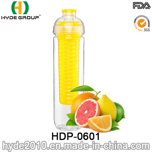 AAA High Quality Fruit Infuser Water Bottle, Customized Plastic BPA Free Fruit Infusion Bottle (HDP-0601) pictures & photos