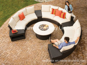 All-Weather Wicker Deep Seating/8-Piece Rattan Sectional Sofa Set pictures & photos